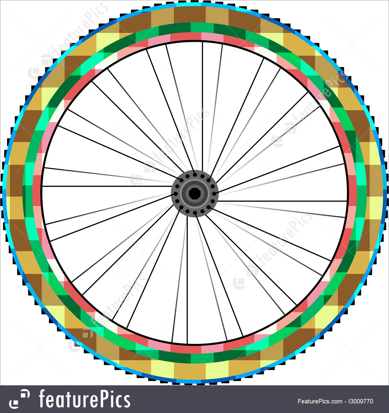 hight resolution of transportation front wheel of a mountain bike background vector