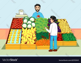 buying market fruits vegetables boy clipart fruit farmers vector vectors clipground