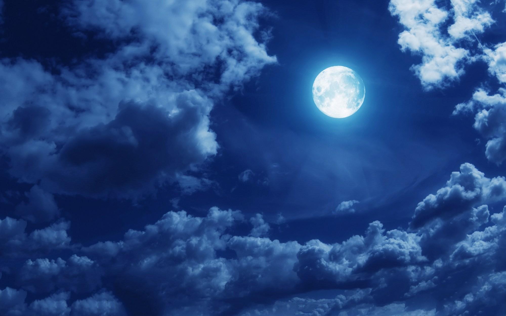 hight resolution of full moon night clipart
