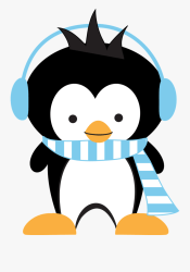 penguin clipart skating ice clip clipground funny