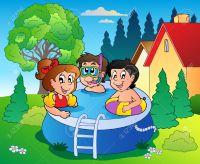 Garden pool clipart - Clipground