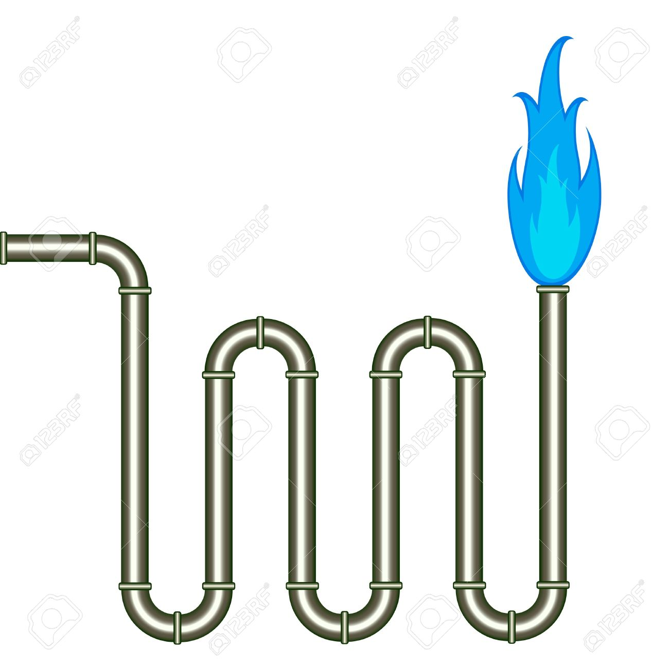 Gas pipe clipart