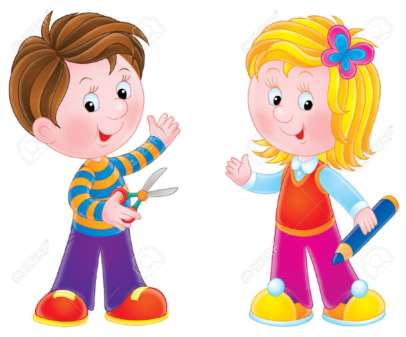 Clipart Of A Boy And Girl Clipground