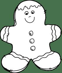 gingerbread clip clipart christmas cookie holiday comic december calendar gingerbreadman kuchen tree weiss schwarz clipground granny goes clipartmag