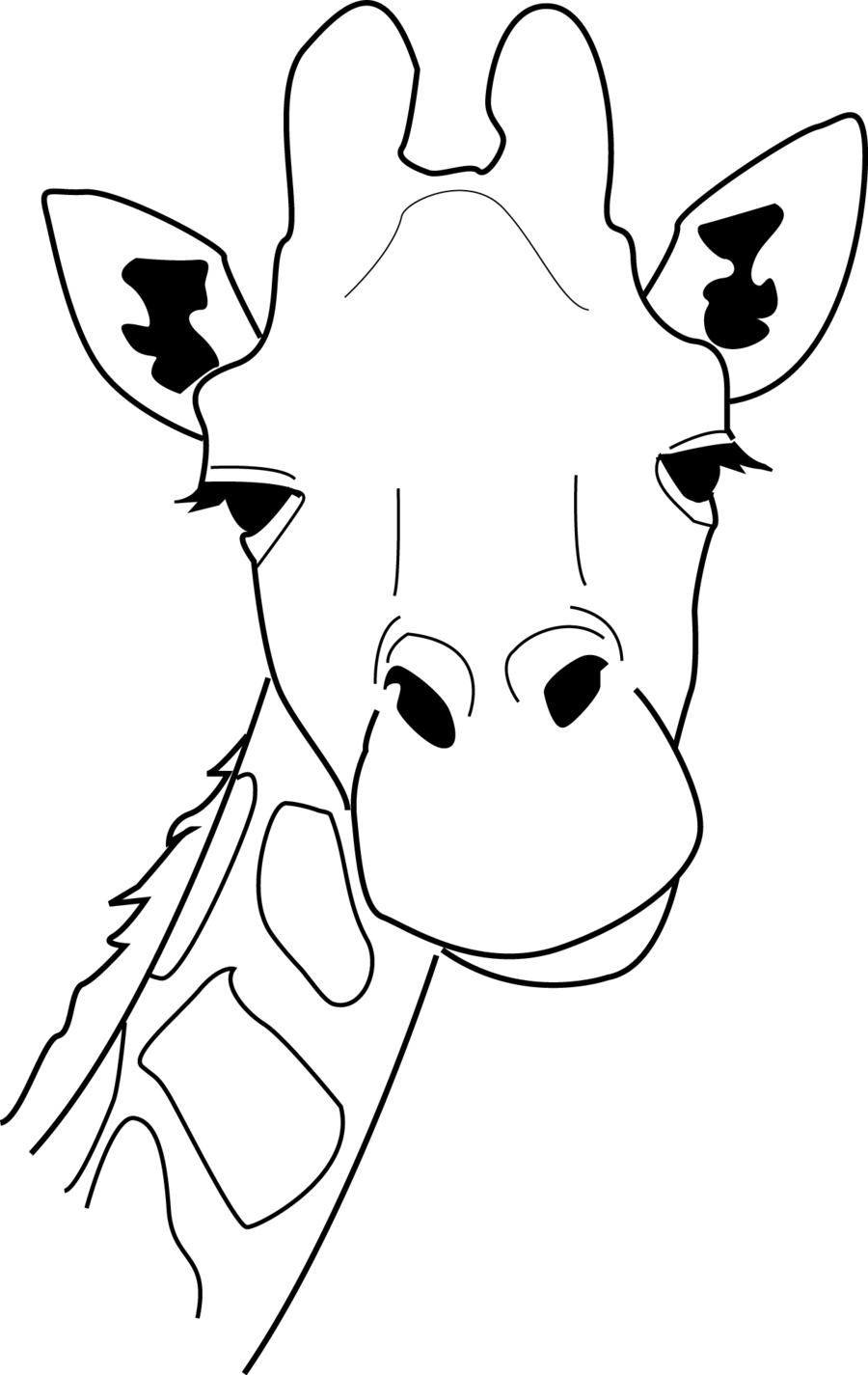 giraffe clipart black and white outline png 20 free