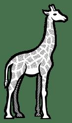 giraffe clipart line outline drawing cute clip cliparts animals lineart svg artwork cartoon safari goku transparent clipground vegeta zebra head