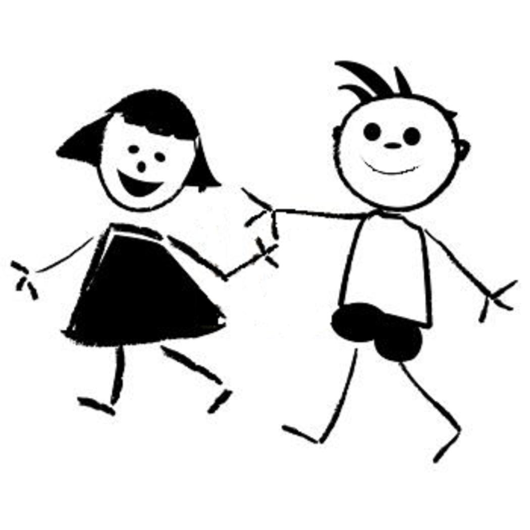 Girl And Guy Bestfriends Clipart