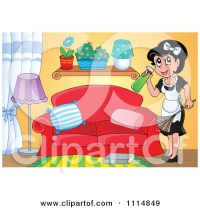 girl cleaning room room clipart - Clipground