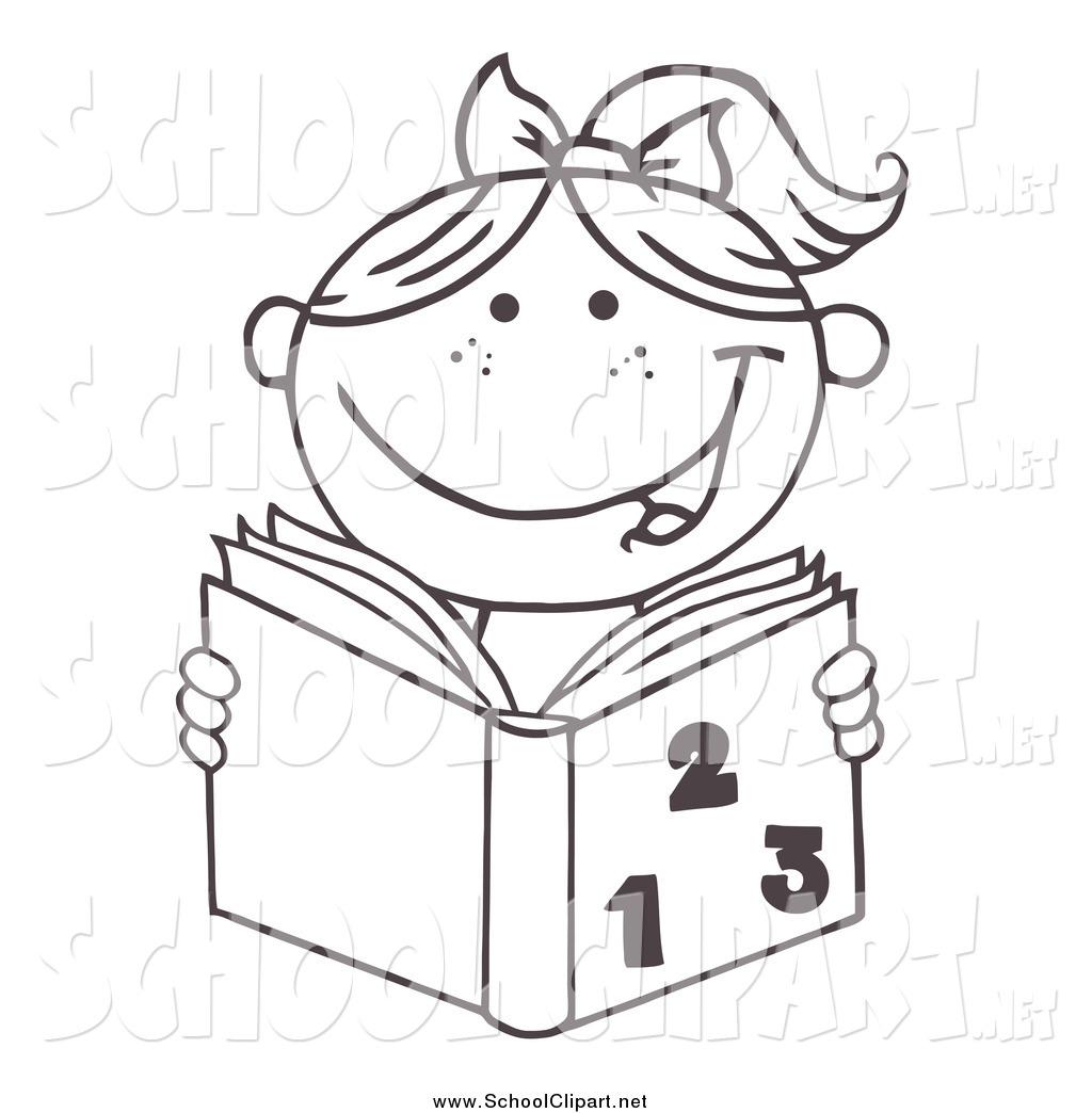 Girl Doing Homework Clipart Black And White 20 Free