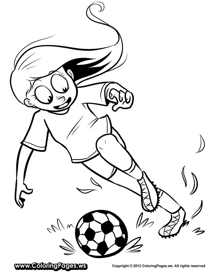 girl soccer clipart color pages 20 free Cliparts