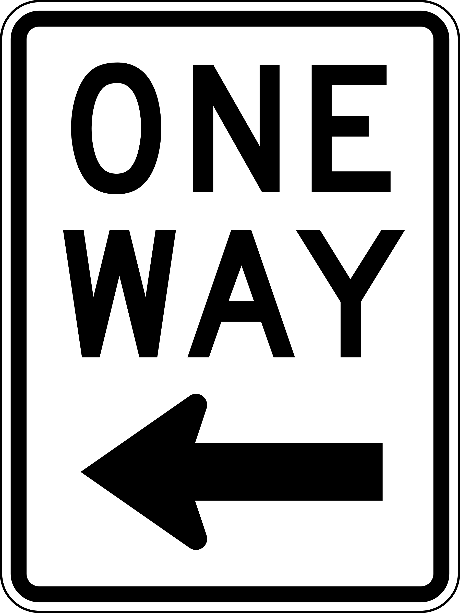One Way Clipart