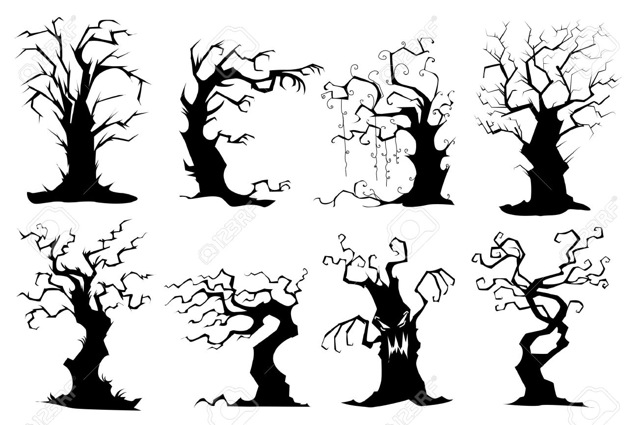 Gnarly Trees Clipart