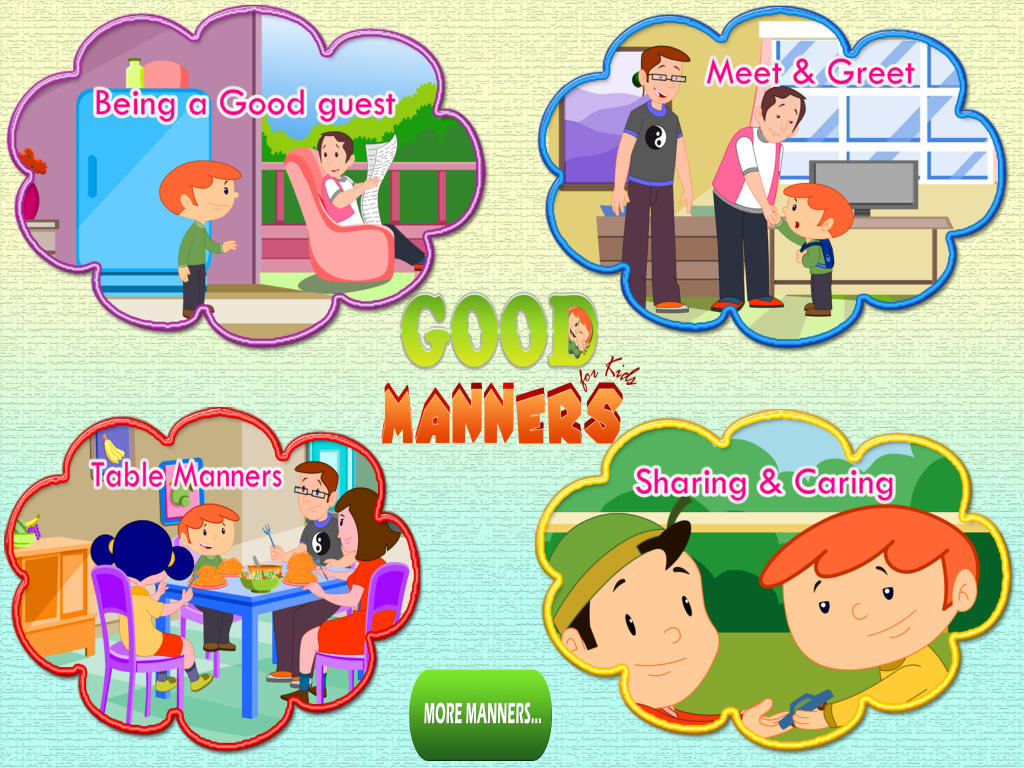 Good Manners For Children Clipart