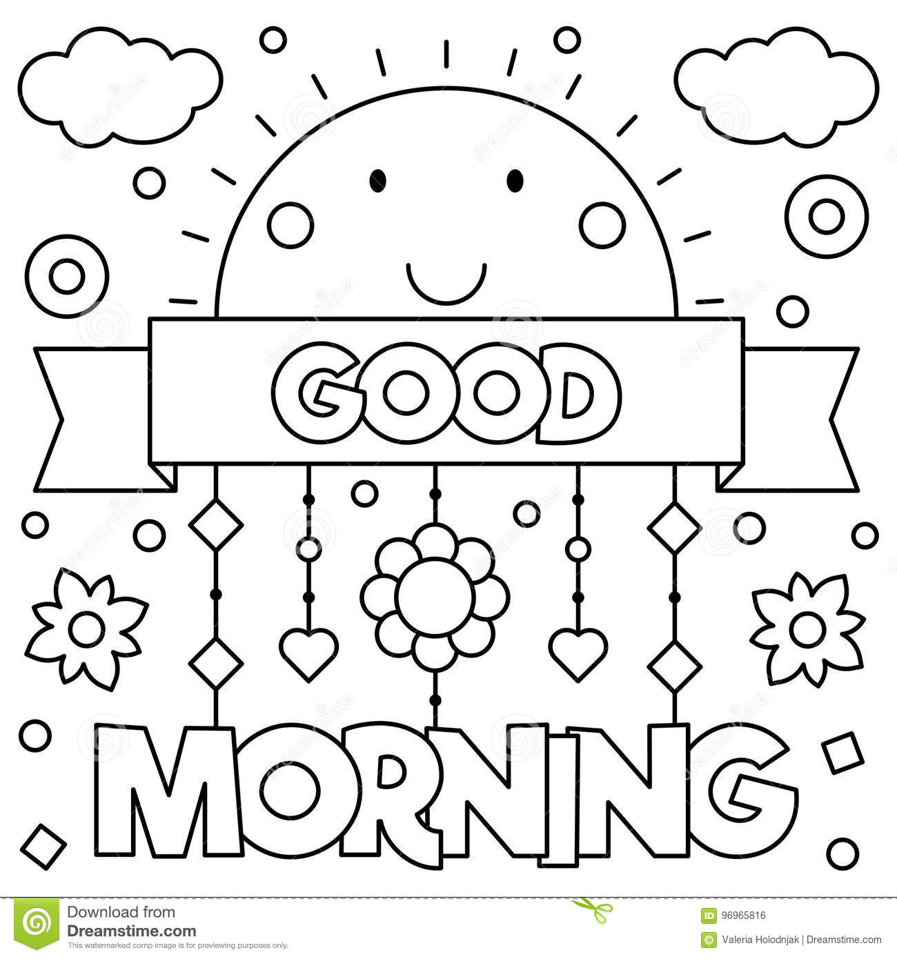 Good Morning Black And White Clipart 10 Free Cliparts