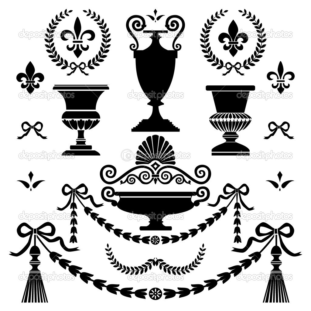 Greek Style Element Clipart