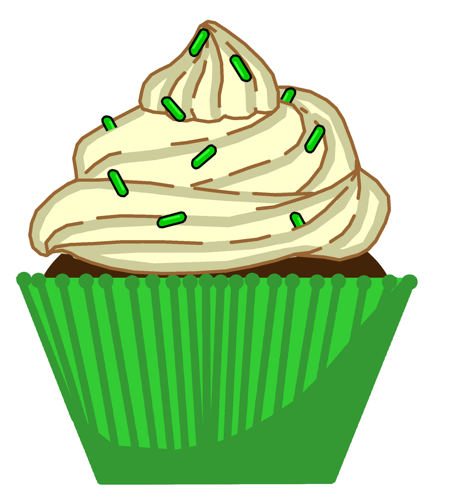 hight resolution of green mint cupcake