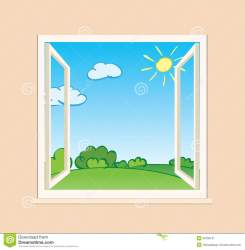 window clipart vector outside open windows nature illustration sill clipground help