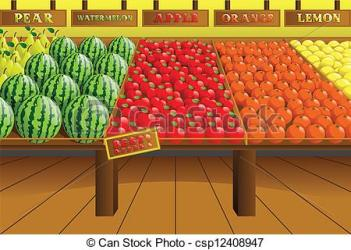 grocery clipart clip produce aisle illustration vector clipground