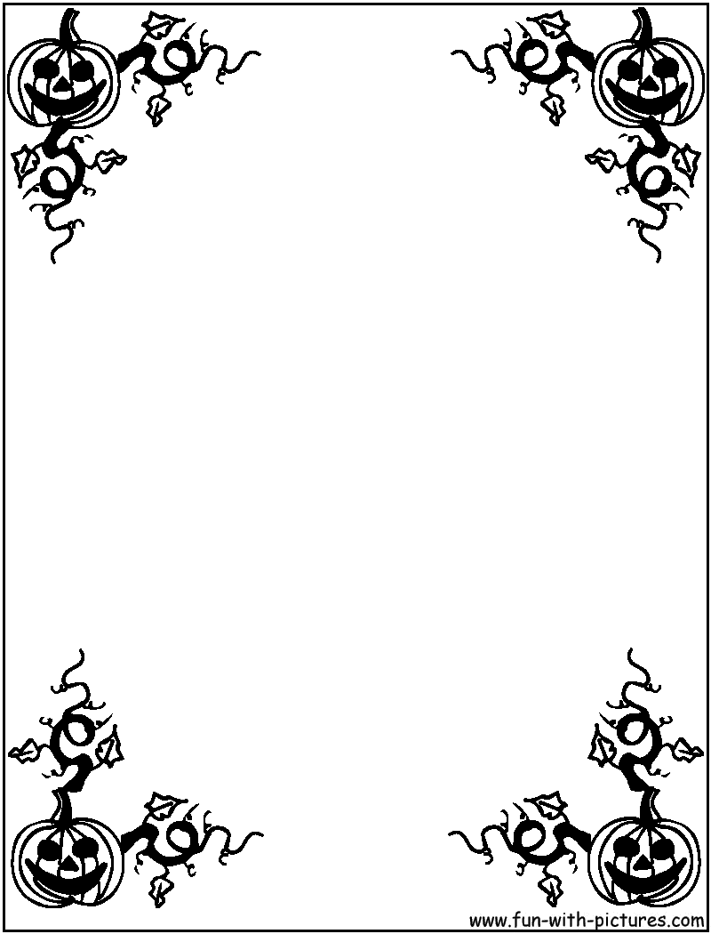 hight resolution of halloween border black and white