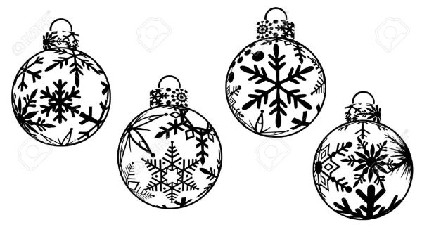 christmas decorations clipart borders