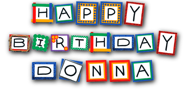 happy birthday donna clipart