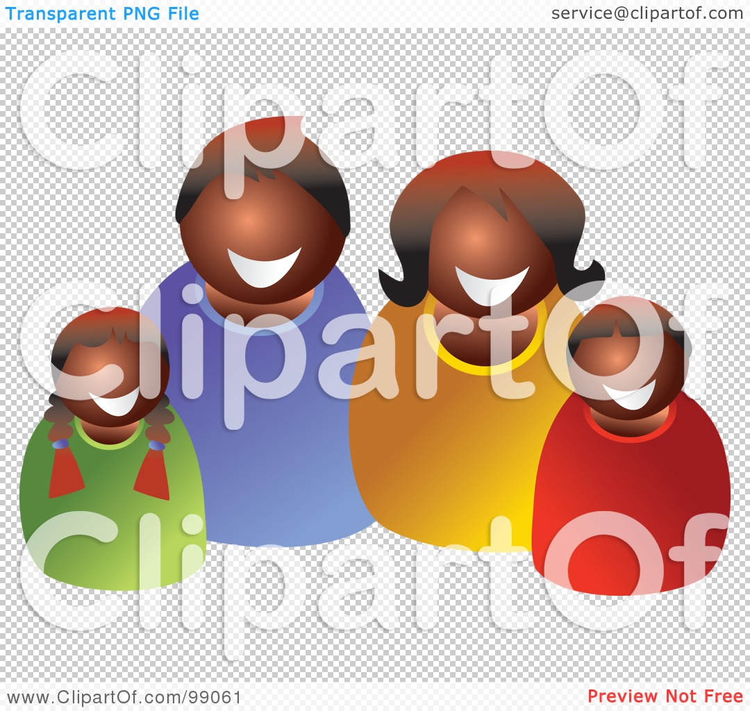 hight resolution of png file has a happy black family clipart