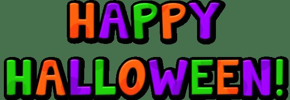happy halloween clipart transparent