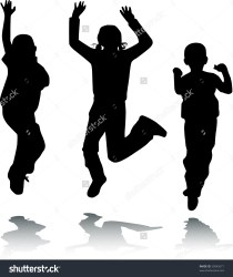 clipart happy children jump vector clipground help