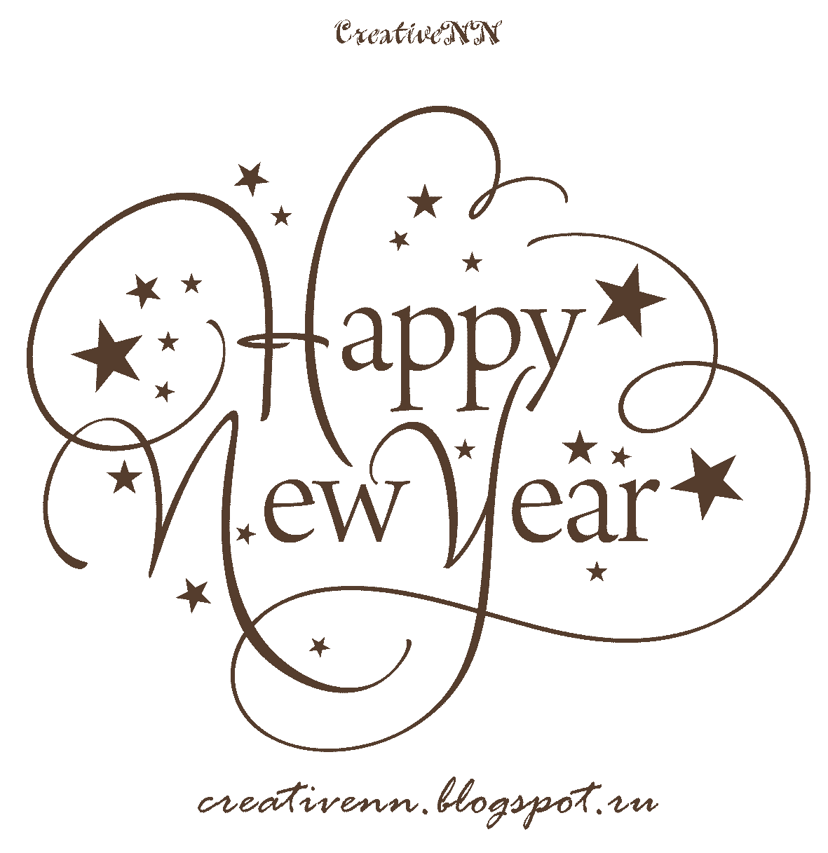 Happy New Year Black And White Clipart 20 Free