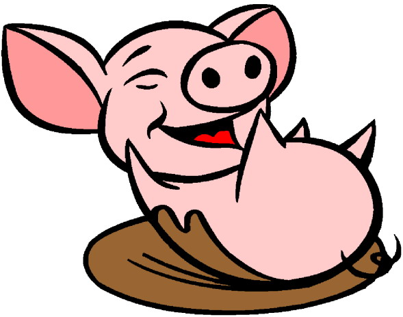 happy pig clipart - clipground