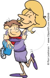 hugging teacher clipart student son happy cartoon mom clip daddy mommy mother apple shiko winds thoughts clipground cliche eye related