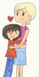hugging teacher student hugs clipart comfort cartoon kristina kw magic caitlin cooke hug drawing evan michael deviantart happy clipground related