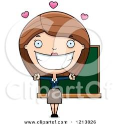teacher student clipart hugging cartoon teachers happy female hug loving students royalty wanting clipground vector rf illustrations thoman cory