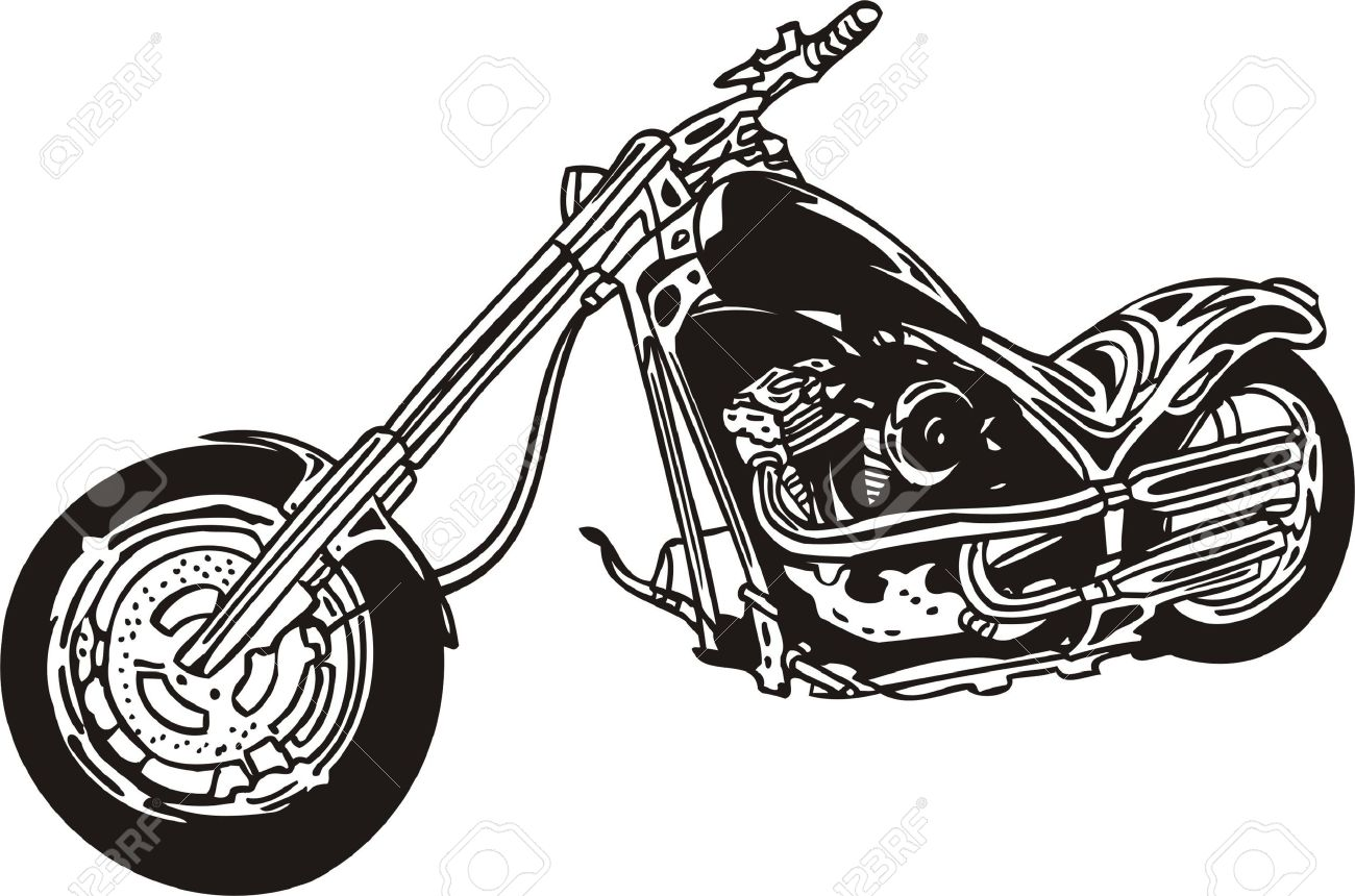 Harley Silhouette Clipart