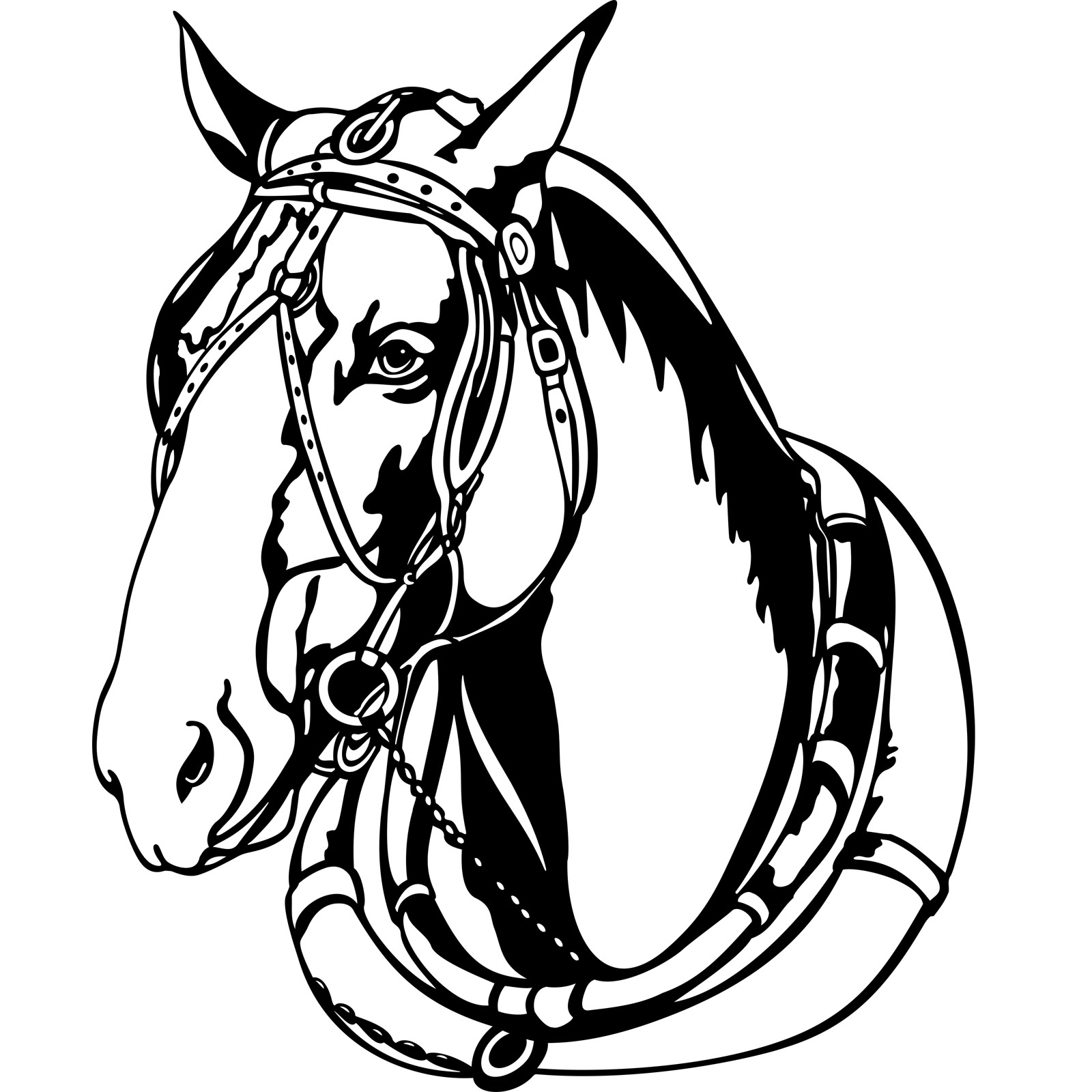 vehicle diagram clip art retort stand and clamp harness for horses clipart - clipground