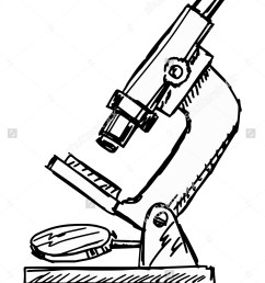 hand drawn sketch illustration microscope stock vector 219945055  [ 1125 x 1600 Pixel ]