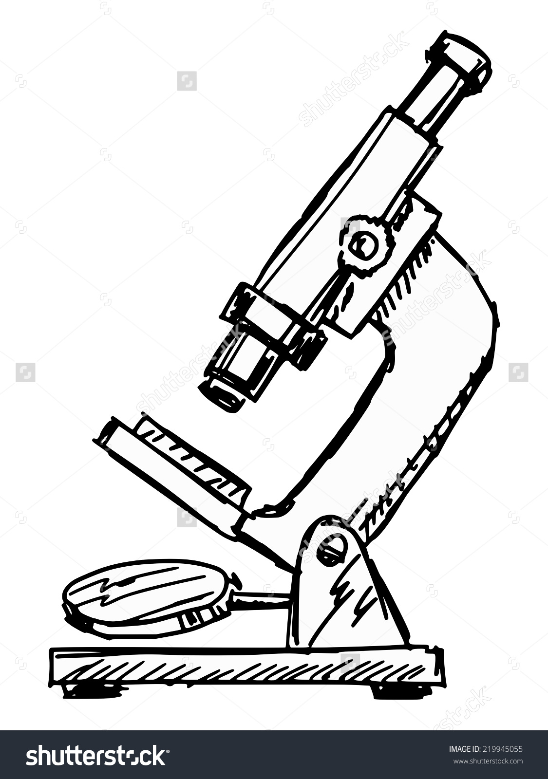 hight resolution of hand drawn sketch illustration microscope stock vector 219945055