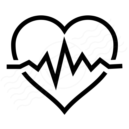 heartbeat line clipart black and white png 20 free