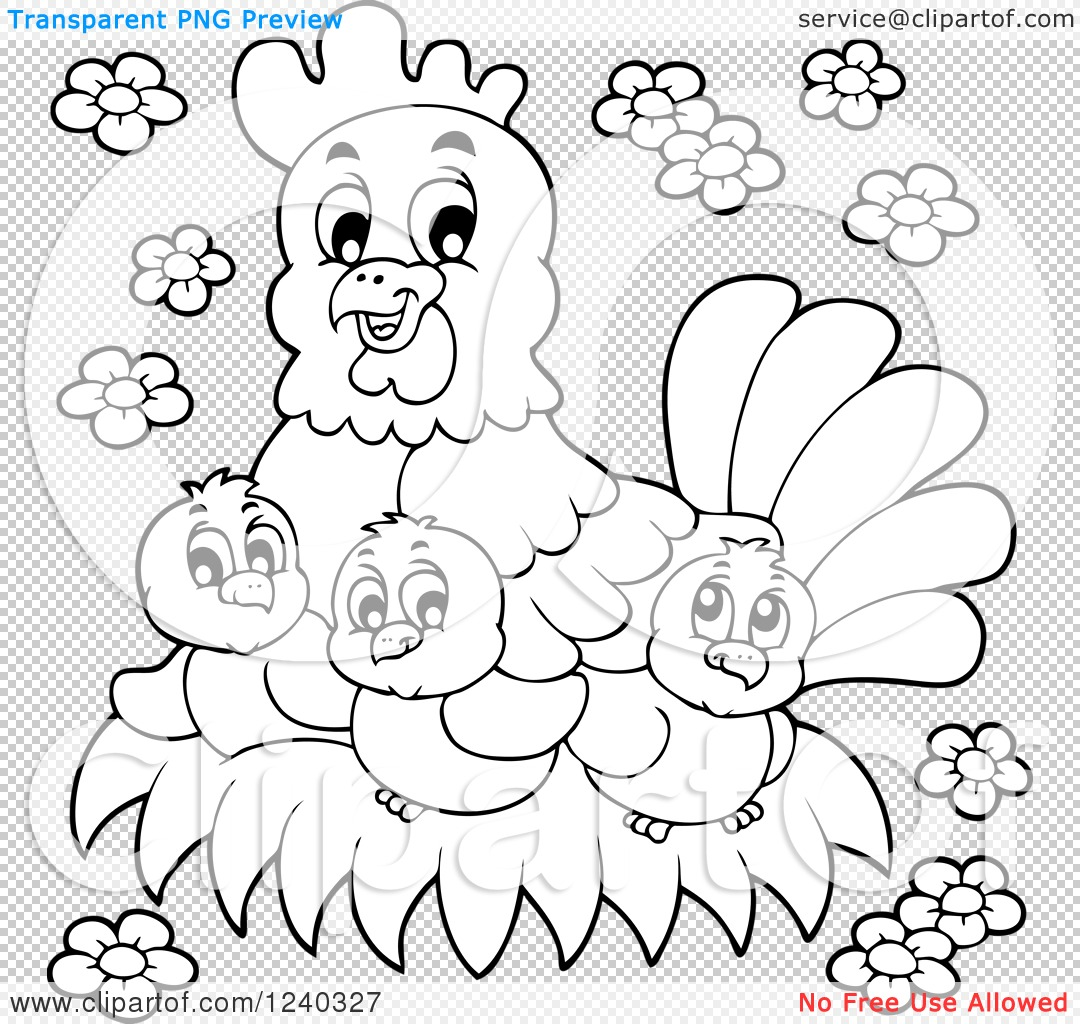 Hens And Chick Clipart