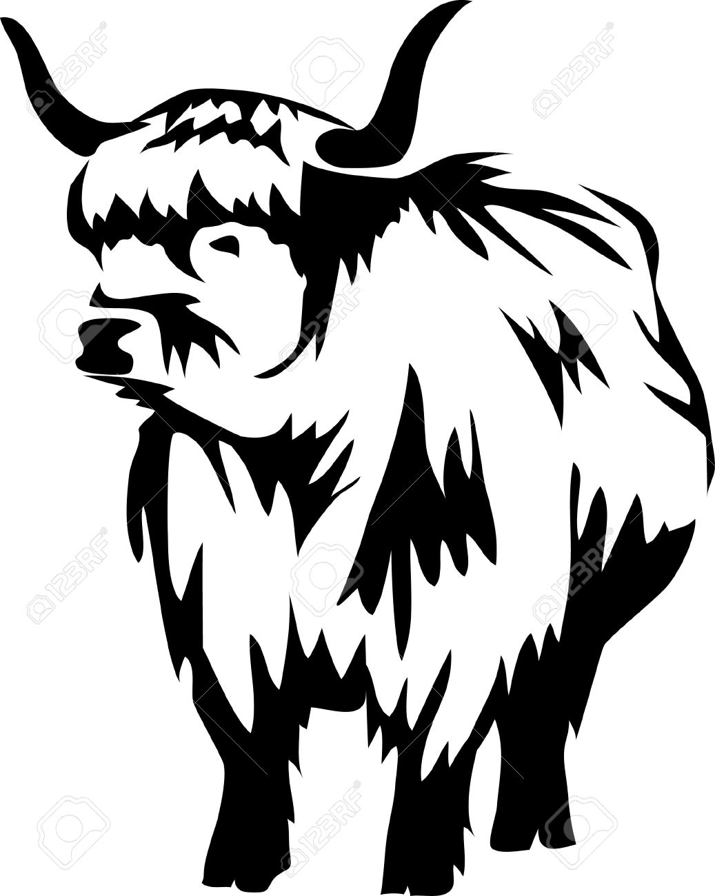 Scottish Highland Cows Clipart 20 Free Cliparts
