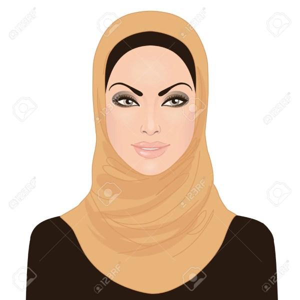 Muslim Women Hijab in Clip Art