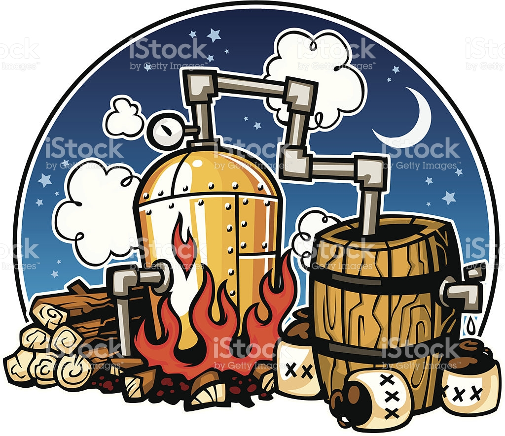 hight resolution of moonshine cliparts
