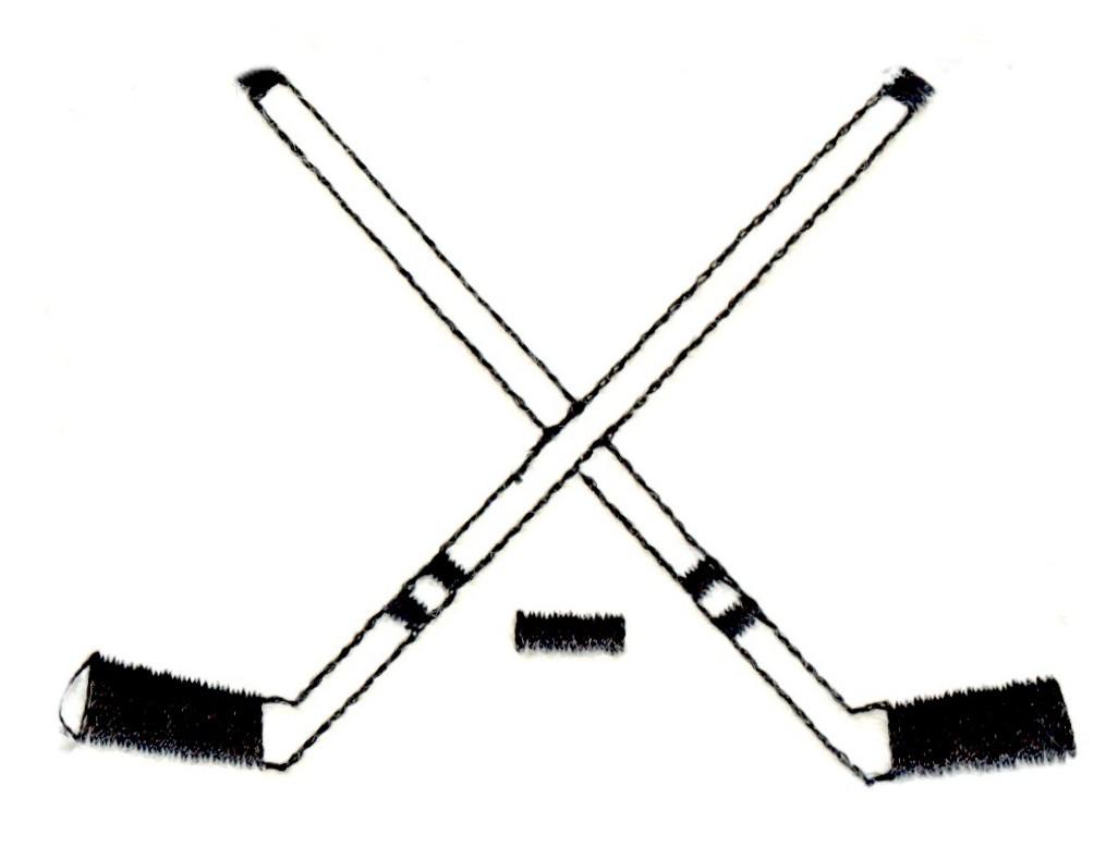 hight resolution of hockey sticks clipart