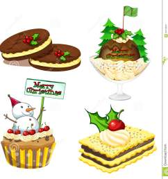 christmas desserts clipart  [ 1315 x 1300 Pixel ]