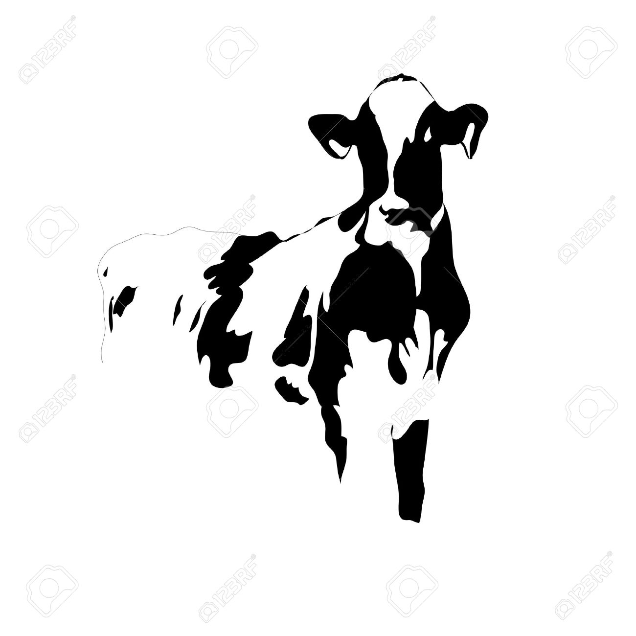Holstien Cow Silhouette Clipart 20 Free Cliparts