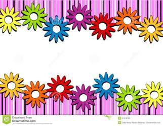 border horizontal clipart flower flowers stripes tree pink april christmas frame cute invitation clip card frames clipground illustration station