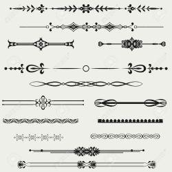 horizontal border line lines clipart calligraphy designs cricut silhouette vector clip tattoos google borders tribal cliparts chalk vectors flower tattoo