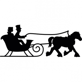 horse and sleigh silhouette clipart 20 free Cliparts
