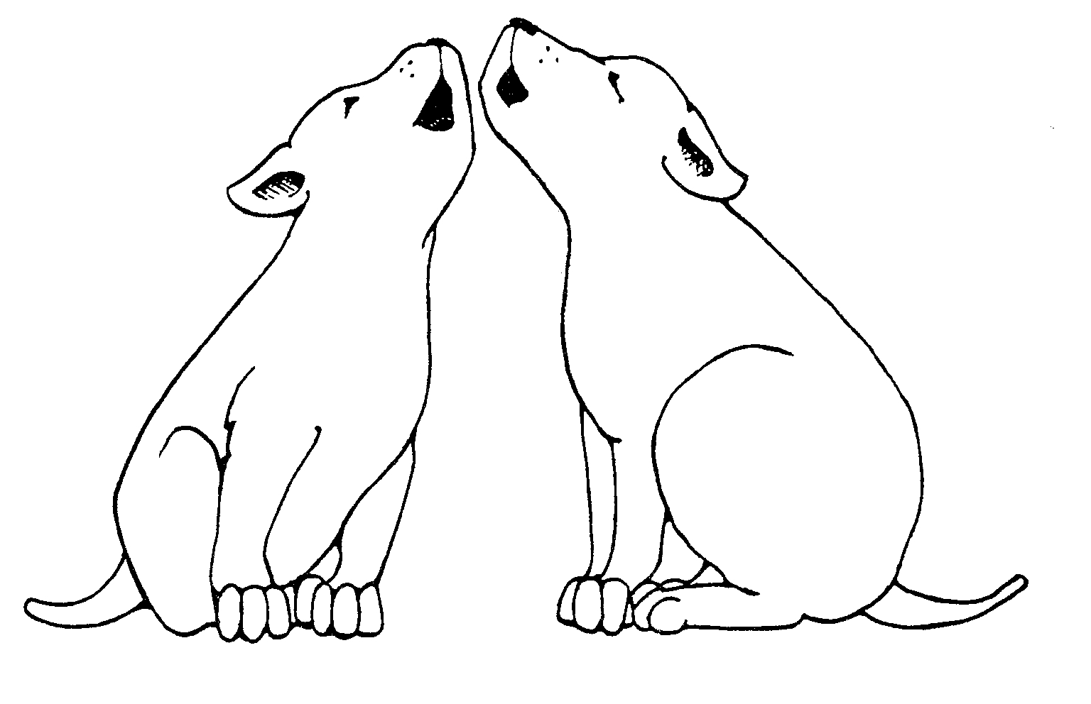 Howling Dogs Clipart