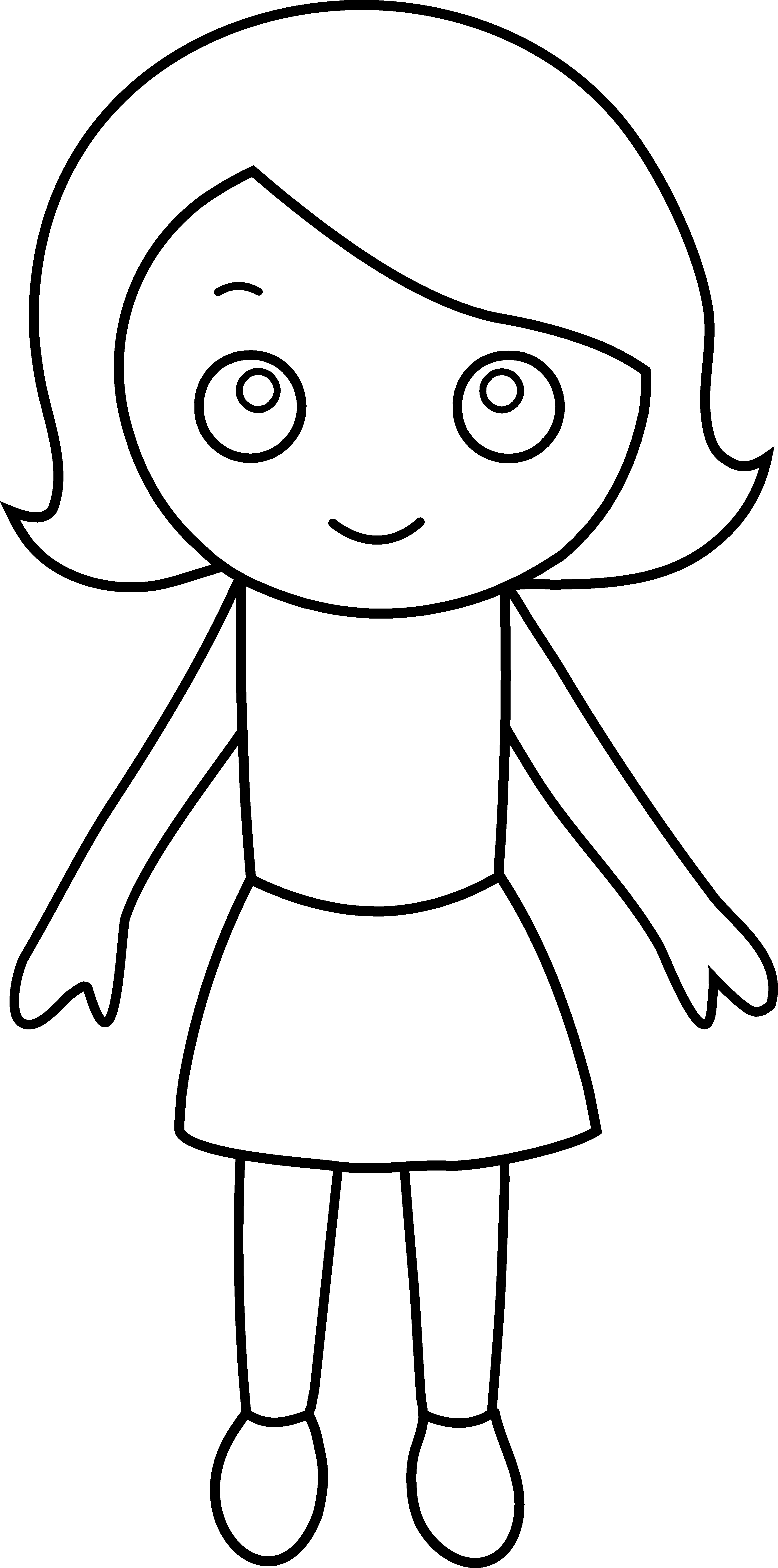 Hula Girl Clipart Little Girl Coloring